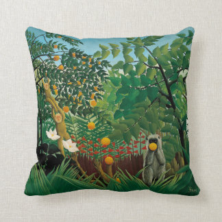 Henri Rousseau Exotic Landscape Pillow