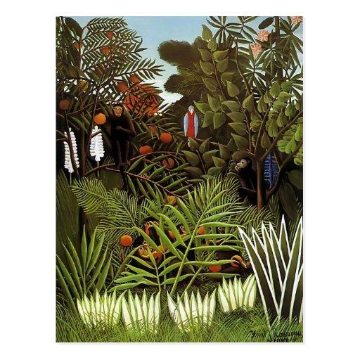 Henri Rousseau- Exotic Landscape Post Card
