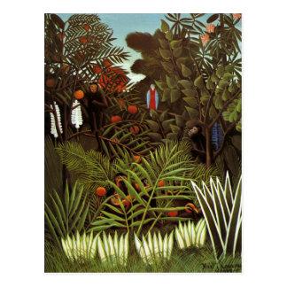 Henri Rousseau - Exotic Landscape Postcard