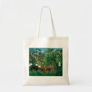 Henri Rousseau Exotic Landscape Tote Bag