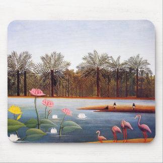 Henri Rousseau Flamingoes Mouse Pad