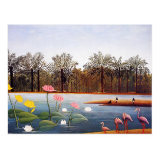 Henri Rousseau Flamingoes Postcard