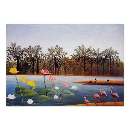Henri Rousseau Flamingoes Poster