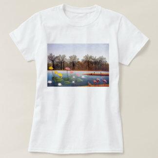 Henri Rousseau Flamingoes T-shirt