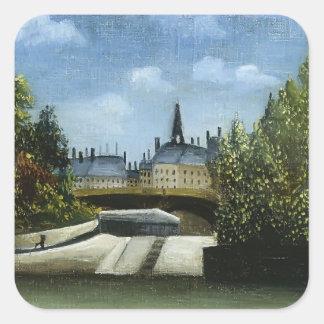 Henri Rousseau- Ile de la Cite Square Sticker