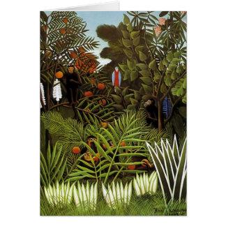 Henri Rousseau - Jungle Landscape Greeting Card