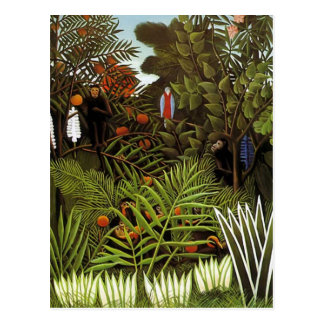 Henri Rousseau - Jungle Landscape Postcard