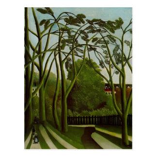 Henri Rousseau- Landscape on Banks of the Bievre Postcard