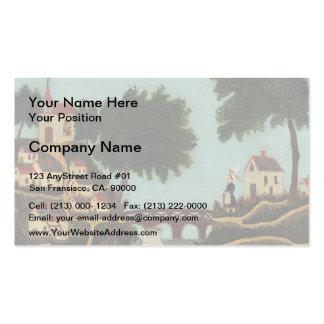 Henri Rousseau- Landscape with Bridge Business Cards