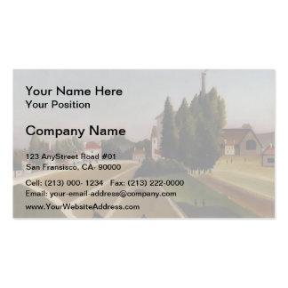 Henri Rousseau- Landscape with Factory Business Card Templates