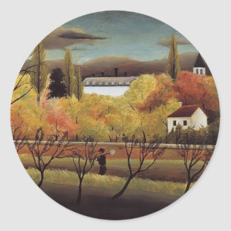 Henri Rousseau- Landscape with Farmer Sticker