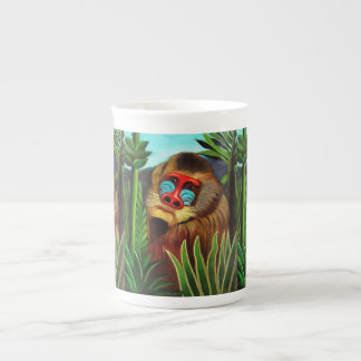Henri Rousseau Mandrill In The Jungle Vintage Art Bone China Mug
