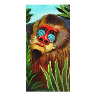 Henri Rousseau Mandrill In The Jungle Vintage Art Personalized Photo Card
