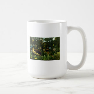Henri Rousseau Painting Basic White Mug