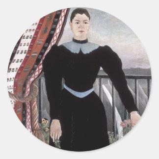 Henri Rousseau- Portrait of a Woman Sticker