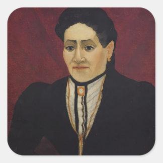 Henri Rousseau- Portrait of A Woman Square Sticker