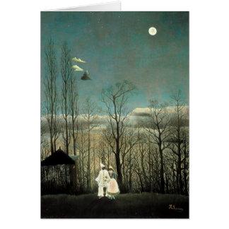 Henri Rousseau's Naïve Painting A Carnival Evening Greeting Card