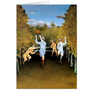 """Henri Rousseau's Painting """"The Football Players"""" Greeting Card"""