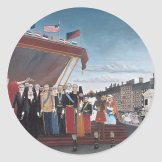 Henri Rousseau-Salution to Republic for Peace Sticker