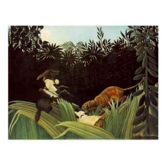 Henri Rousseau- Scout Attacked by a Tiger Postcards