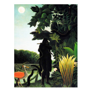 Henri Rousseau Snake Charmer Postcard