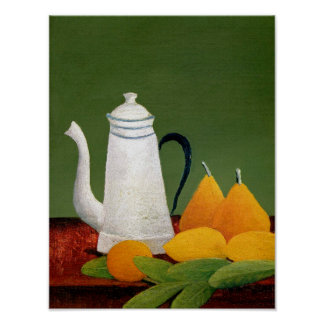 Henri Rousseau - Still Life with Fruit & Teapot Poster