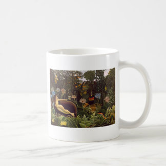 Henri Rousseau The Dream Jungle Flowers Painting Basic White Mug
