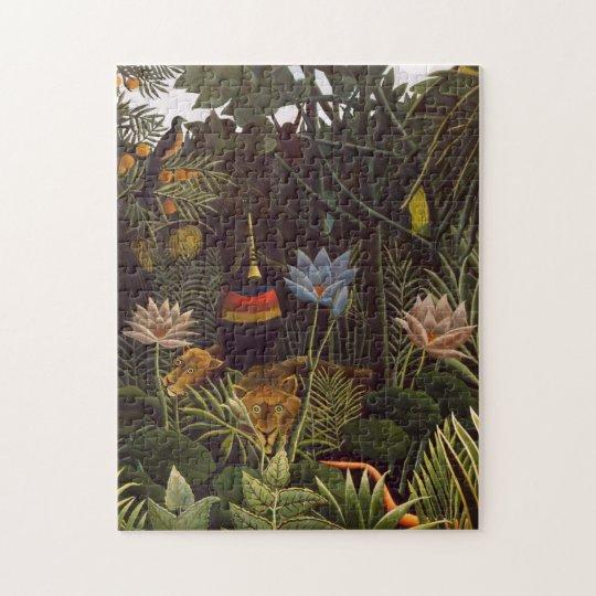 Henri Rousseau The Dream Jungle Flowers Painting Jigsaw
