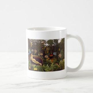 Henri Rousseau The Dream Jungle Flowers Painting Coffee Mug