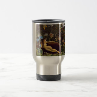 Henri Rousseau The Dream Jungle Flowers Painting Stainless Steel Travel Mug