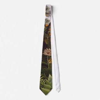Henri Rousseau The Dream Jungle Flowers Painting Tie