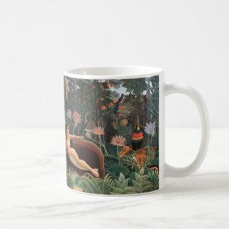 Henri Rousseau The Dream Jungle Flowers Surrealism Basic White Mug