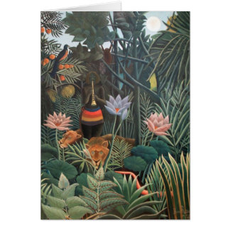 Henri Rousseau The Dream Jungle Flowers Surrealism Card