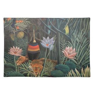 Henri Rousseau The Dream Jungle Flowers Surrealism Place Mat