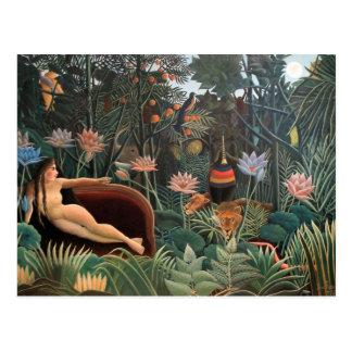 Henri Rousseau The Dream Jungle Flowers Surrealism Postcards