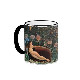 Henri Rousseau The Dream Jungle Flowers Surrealism Ringer Mug