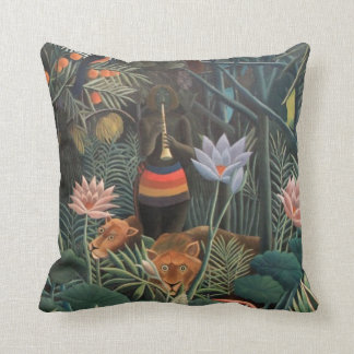 Henri Rousseau The Dream Jungle Flowers Surrealism Throw Pillow