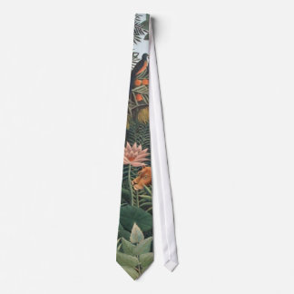 Henri Rousseau The Dream Jungle Flowers Surrealism Tie