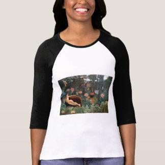Henri Rousseau The Dream Jungle Flowers Surrealism T-shirt