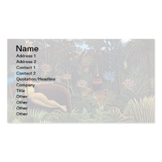 Henri Rousseau The Dream - Jungle Woman w Animals Pack Of Standard Business Cards