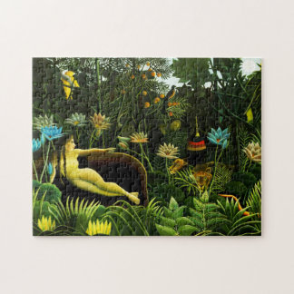 Henri Rousseau The Dream Puzzle