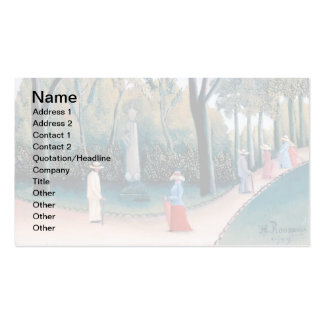 Henri Rousseau - The Luxembourg Gardens Pack Of Standard Business Cards