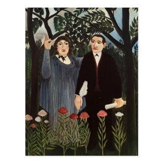 Henri Rousseau- The Muse Inspiring the Poet Postcard