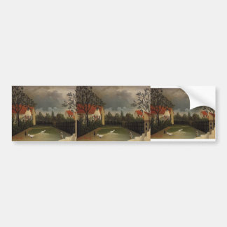 Henri Rousseau- The Poultry Yard Bumper Sticker