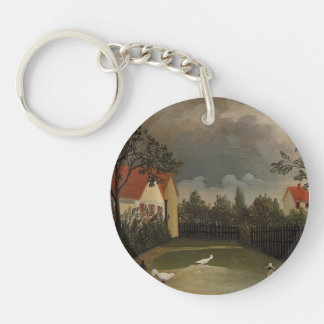 Henri Rousseau- The Poultry Yard Keychains