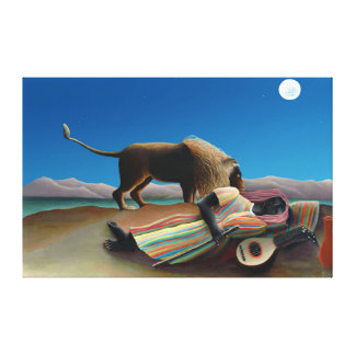 Henri Rousseau - The Sleeping Gypsy Canvas Print