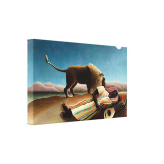 Henri Rousseau The Sleeping Gypsy Canvas Print