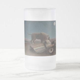 Henri Rousseau - The Sleeping Gypsy Frosted Glass Mug