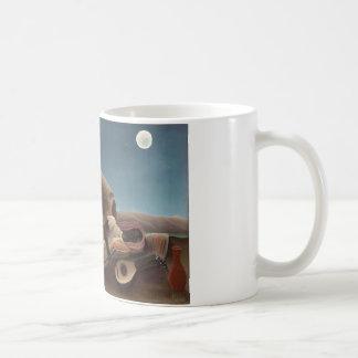 Henri Rousseau The Sleeping Gypsy Lion Moon Night Basic White Mug