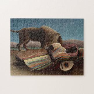Henri Rousseau The Sleeping Gypsy Lion Moon Night Puzzles